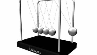 Newton's Cradle (pendulum) Animation - Solidworks & Maya