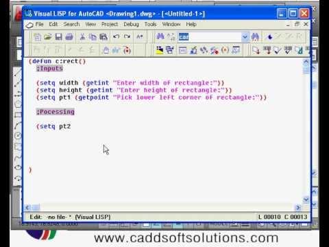 AutoLISP Programming Video Tutorials - 3