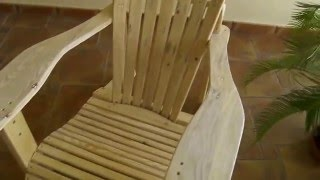 Here we have my take on the fantastic ADIRONDACK CHAIR. I made this chair only using scrap PALLETS that I freely acquired by