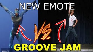NEW GROOVE JAM DANCE IN REAL LIFE (Napoleon Dynamite DANCE) FORTNITE