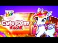 Sweet little Pony - Children's cartoon Girl Game - Run cute little pony race game