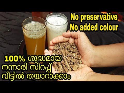 nannari syrup||nannari sarbath receipe malayam|| pal sarbath|| naruneendisyruppu