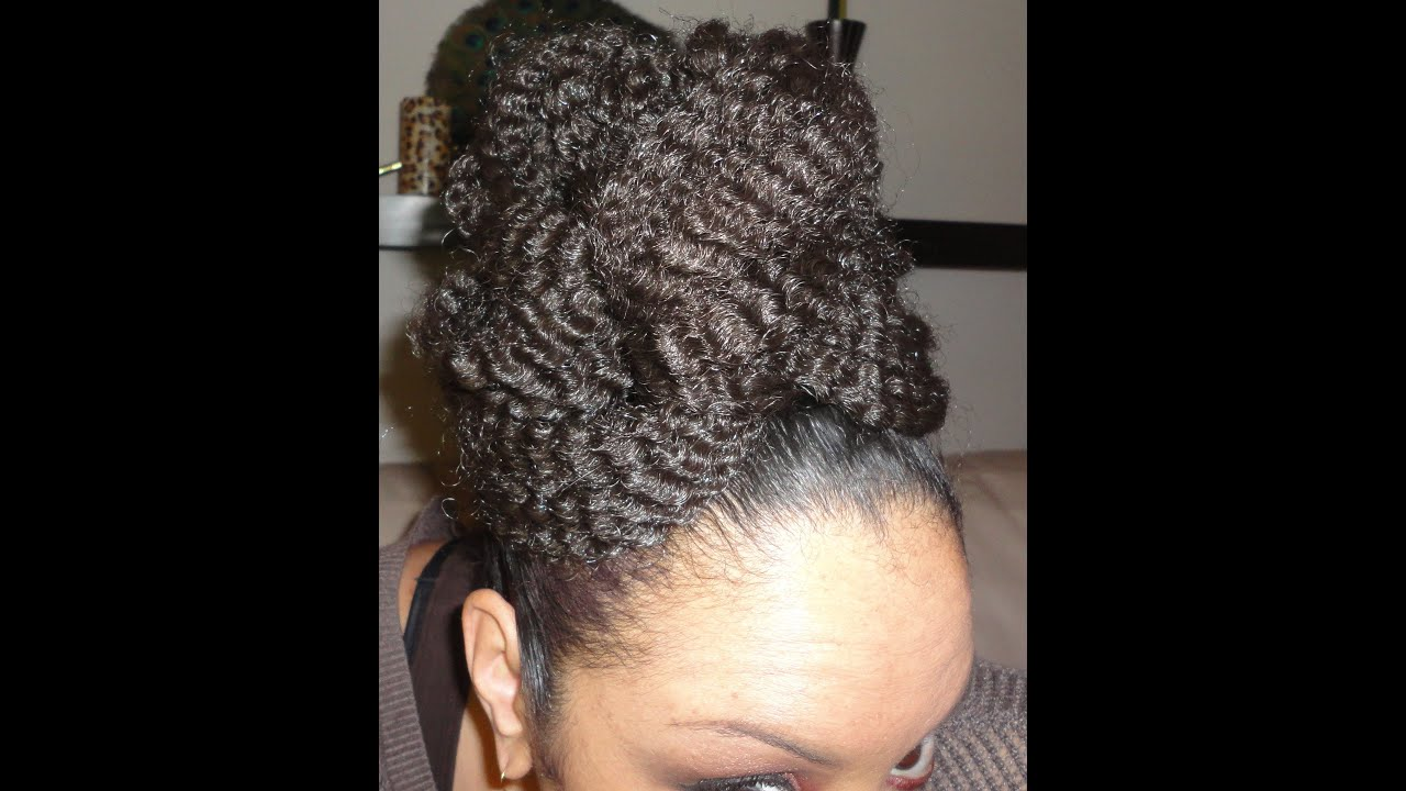 "Marley Hair Styles: (NATURAL HAIR) Hairstyle How To: ""Marley"" Faux Bun UpDo"