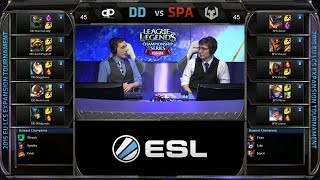 SPARTA vs Different Dimension Game 2 | EU LCS Expansion Tournament Spring 2015 | SPA vs DD G2