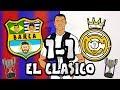👀RONALDO watches EL CLASICO!👀 (Barcelona vs Real Madrid 1-1 Parody Copa Del Rey 2019 Highlights)