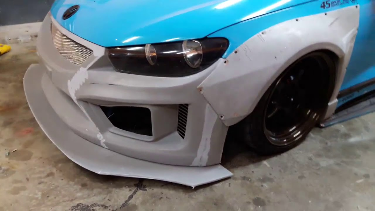 volkswagen scirocco custom wide body kit modified youtube. Black Bedroom Furniture Sets. Home Design Ideas