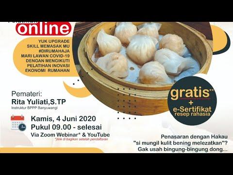 Webinar Pelatihan Inovasi Ekonomi Rumahan BPPP Banyuwangi / Hakau Festival