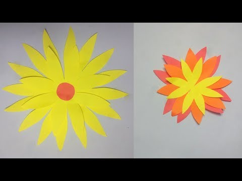 How to make a paper flower || Sunflower paper crafts | tanjina art and craft