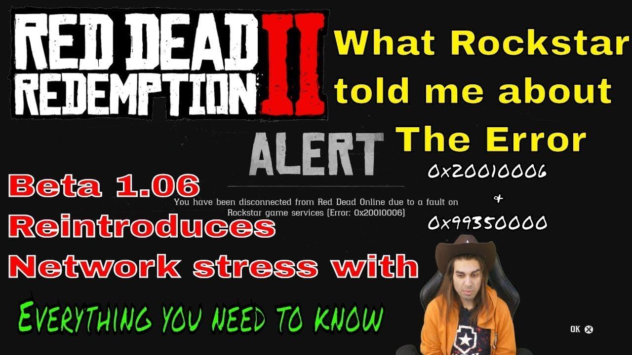 Red Dead Online 1 07 { 2019 } Error 0x20010006 , 0x99350000 #rockstar