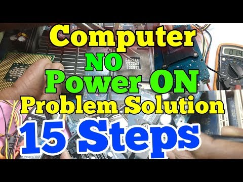 No Power On Computer !! how to fix won't turn pc problem !! 15 steps to solve power On problem