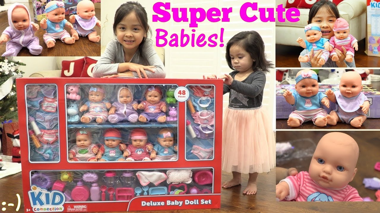 Children's TOYS: Kid Connection BABY DOLLS Playset. Cute ...
