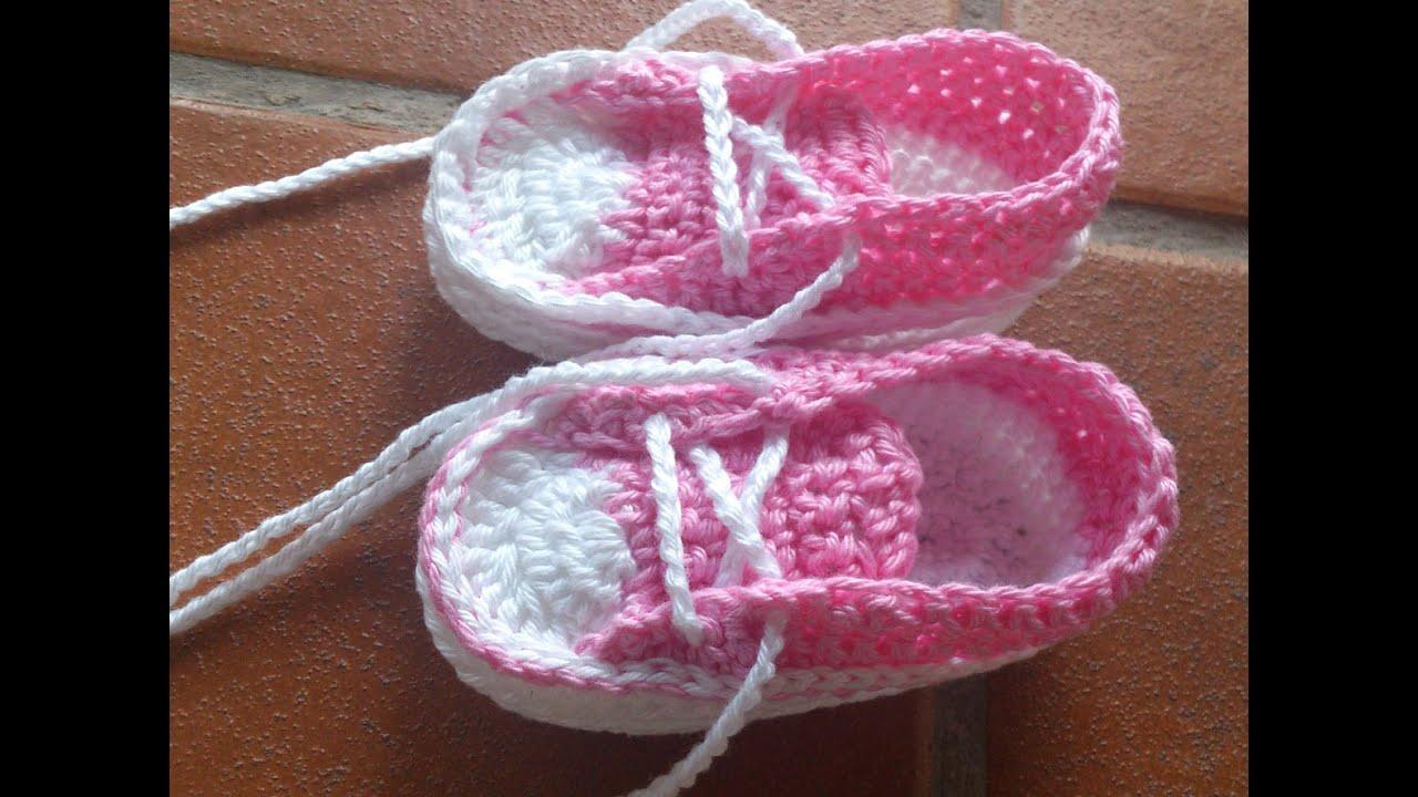 Zapatillas converse de verano para beb parte1 youtube - Labores de crochet para bebes ...