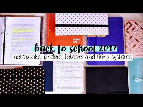 Back to School 2017 #5 // Notebooks, Binders, Folders and Filing Systems