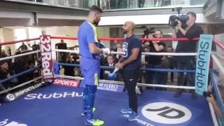 TONY BELLEW FULL & UNCUT MEDIA WORKOUT WITH TRAINER DAVE COLDWELL / BELLEW v FLORES