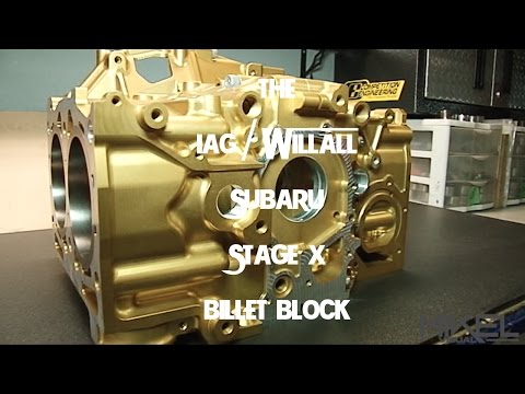 Subaru 2.5L IAG Performance/WillAll Racing Gold Billet Block