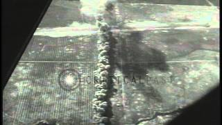 The United States Army Air Forces planes strafe and bomb target areas in the Euro...HD Stock Footage