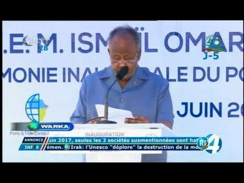 Télé Djibouti Chaine Youtube : JT Somali du 22/06/2017
