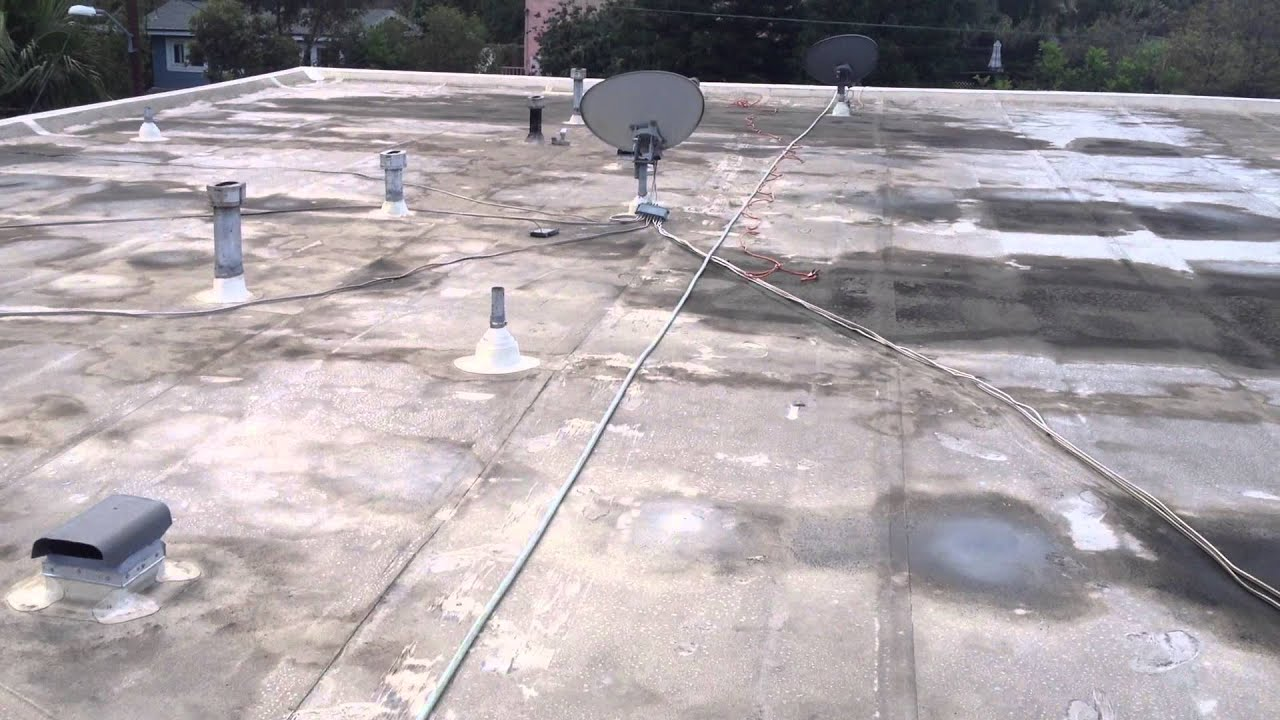 Pvc Membrane Roof Before Cleaning Youtube
