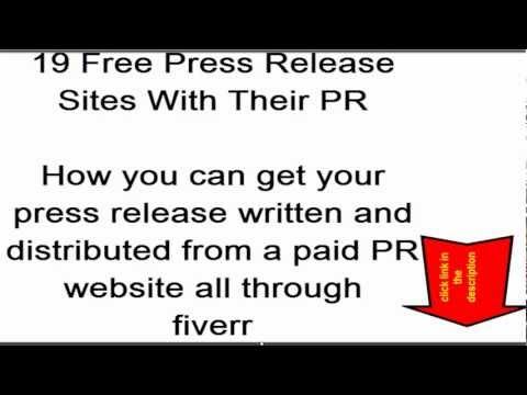 Free Press Release Sites - PR 1 - 7