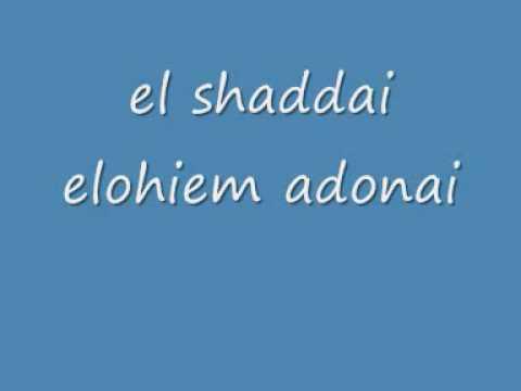 el shaddai elohim adonai