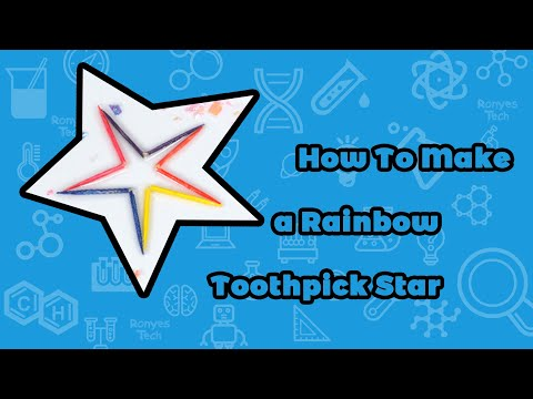 Rainbow Toothpick Star - Science Experiment for kids