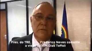 Presidente do TRE-PE comenta sobre a importância da visita do ministro Dias Toffoli.