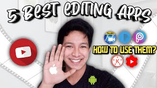 Top 5 Best Editing Apps for Vlogging (Android & IOS) Easy Editing TUTORIAL   Philippines
