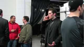 Boston Bruins - Behind the Scenes - Players leave lockeroom after Game to greet fans  3/25/13