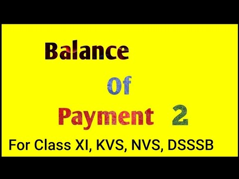 Balance of payment  Autonomous and Accommodating items (class Xll Economics)