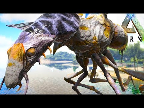Ark Survival Evolved - GIANT ARK WASPS + 100% BEST GUN IN ARK - Ark Modded