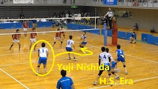 Kaisei High school #1 Yuji Nishida Best, spike and serve in Japan inter high school 2017