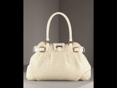 5988d9dc58c13 crochet bag free pattern 1 طريقة عمل شنط كروشيه - YouTube