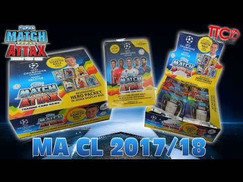96 MATCH ATTAX 2017/18 CHAMPIONS LEAGUE BOOSTER + 5 BLISTER  UNBOXING OPENING