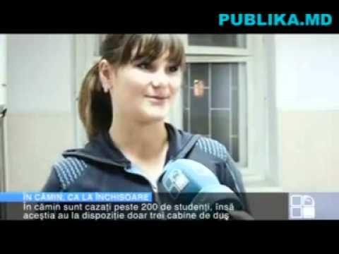Condiţii de groază în căminele studenţeşti din Bălţi. Perdele în loc de uşi