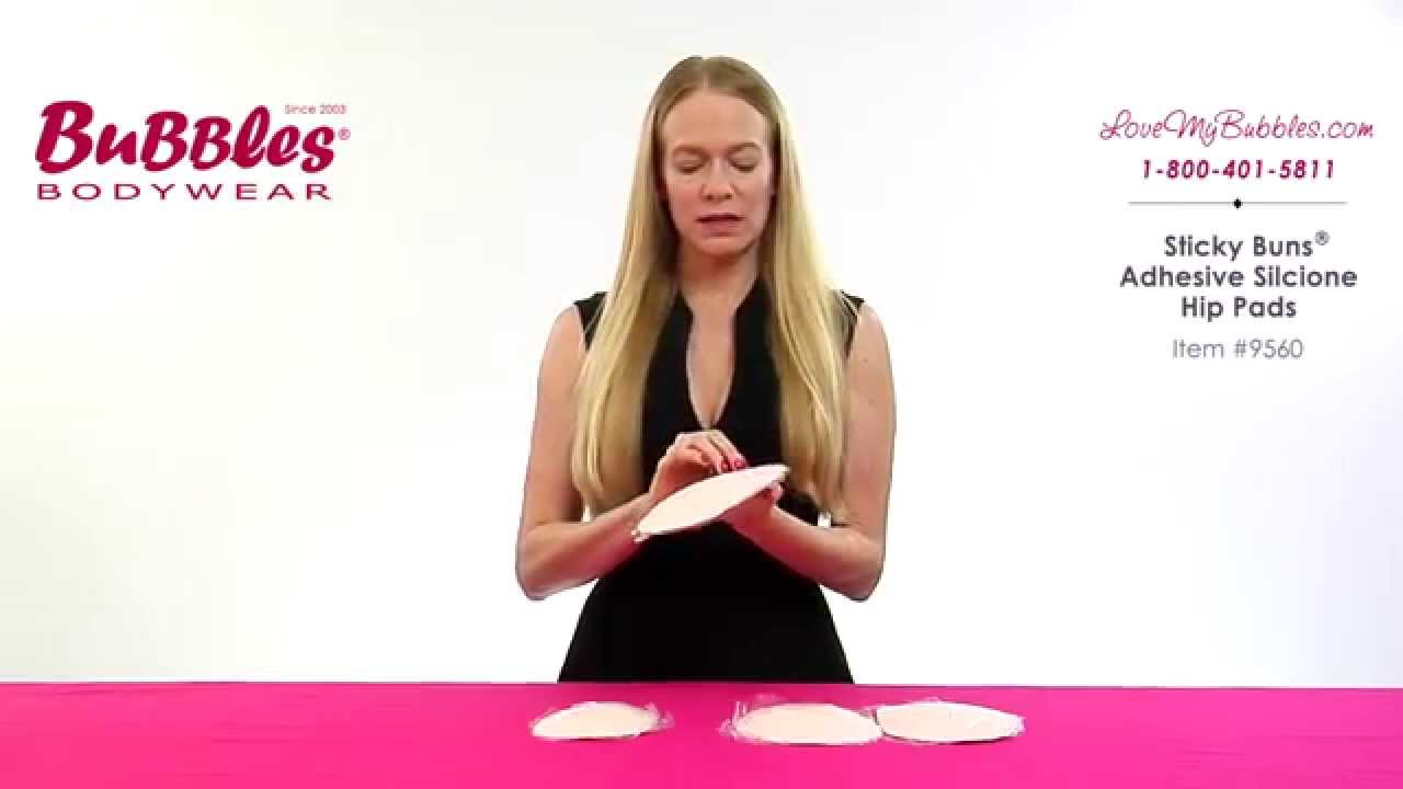 333fe220c22 Sticky Hips  Silicone Hip Padding by Bubbles Bodywear - YouTube