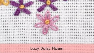 Lazy Daisy is the easiest flower to embroider and in this video, I ...