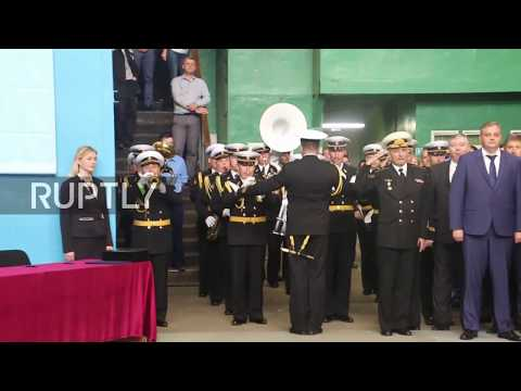 Russia: Keel-laying ceremony held for Yasen M-Class submarine in Severodvinsk