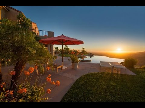 Stunning Ocean and Mountain View Villa in Rancho Santa Fe, California