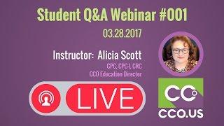 CCO Student Q&A Webinar #001