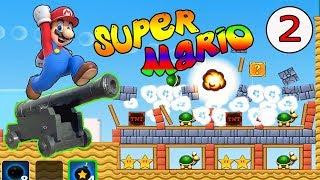 Супер Марио и Пушка 2 Серия Мультик игра для детей  Прохождение Suer Mario