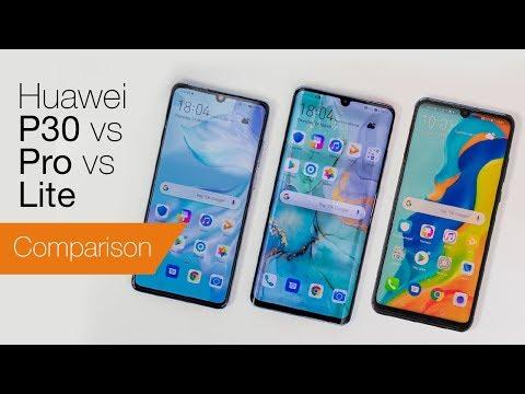 Huawei P30 vs P30 Pro vs P30 Lite - YouTube