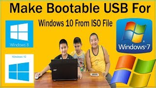 How To Make Bootable USB Windows 10 From ISO File How To Use Windows USB DVD Download Tool
