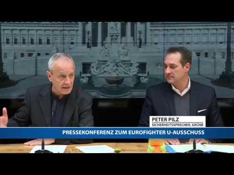 Eurofighter-Skandal: Pressekonferenz mit Strache und Pilz