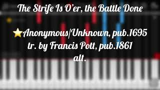 The strife is o'er the battle done piano 🎹 tutorial 🎵