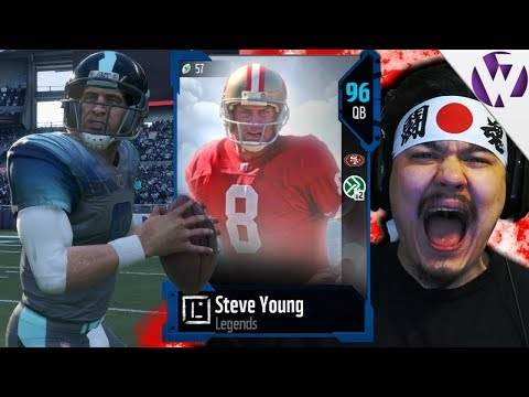 NEW LEGEND STEVE YOUNG AIRING IT OUT!! - Madden 18 Steve Young Gameplay