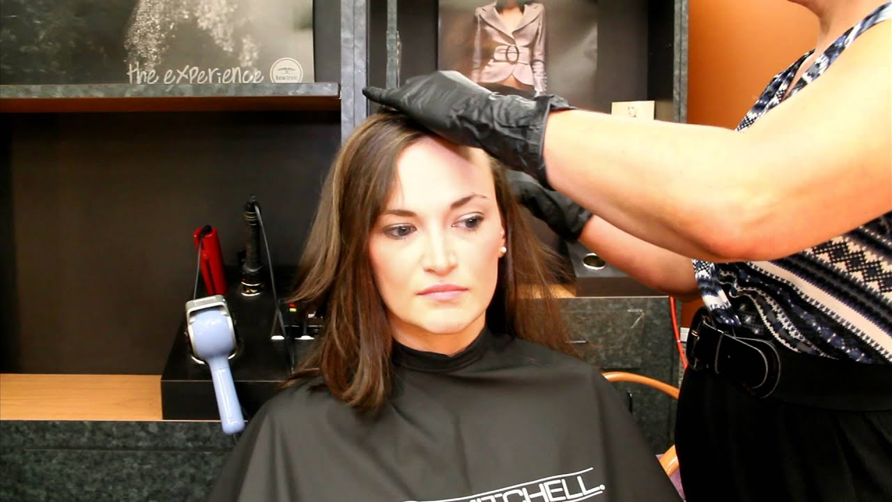 woman's hair cut and color | paul conzos day spa & hair salon - youtube