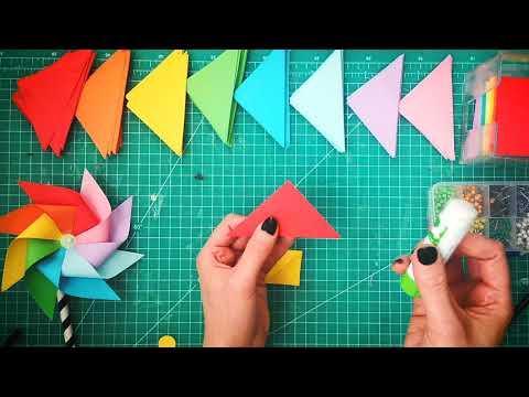 Youtube Makers Club and Bunty May Makes presents: How to make Pinwheels