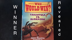 Who Would Win? Tarantula vs Scorpion WINNER REVEALED! Every Page shown!