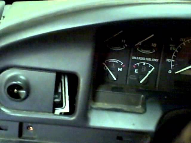 1997 ford f250 instrument cluster not working