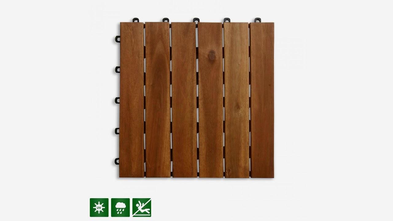 Acacia Wood Tile Flooring Patio Pavers